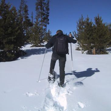 Snowshoeing at Mesa Falls